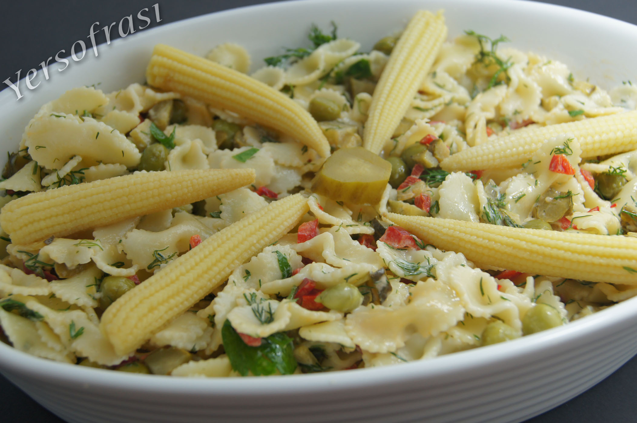 Labneli Makarna Salatası