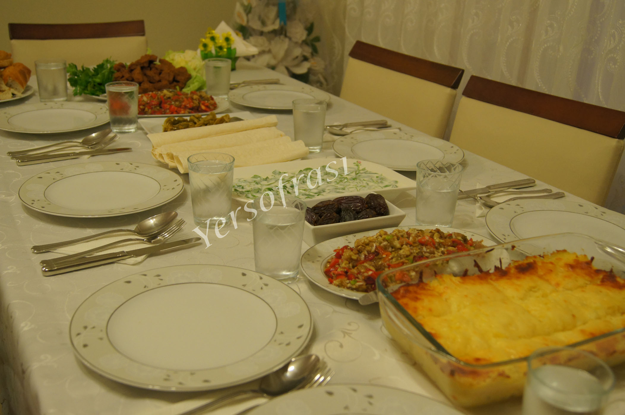firinda patates püresi iftar sofrasi